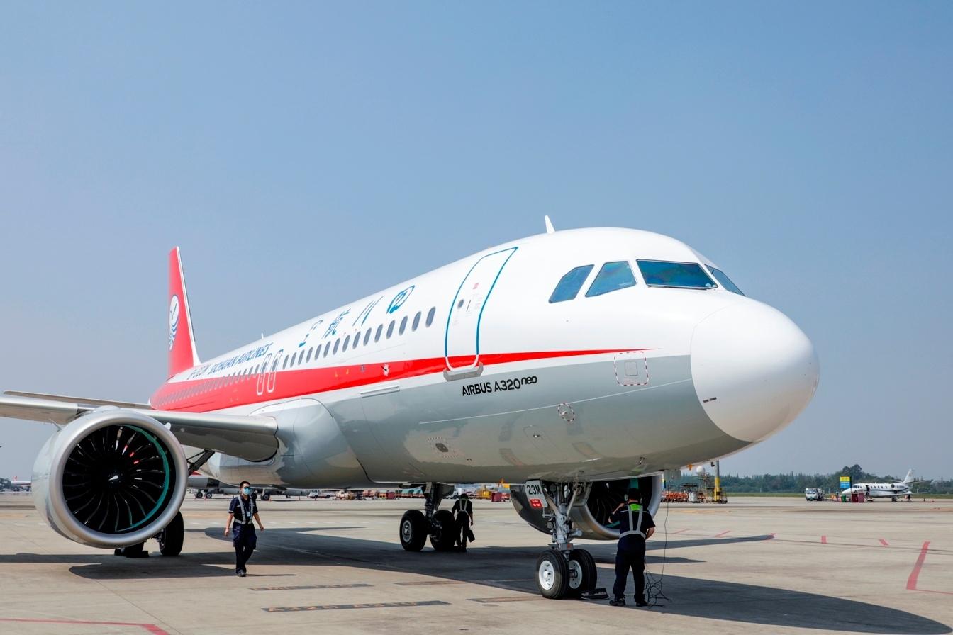 川航再添一架A320neo 机队规模达169架