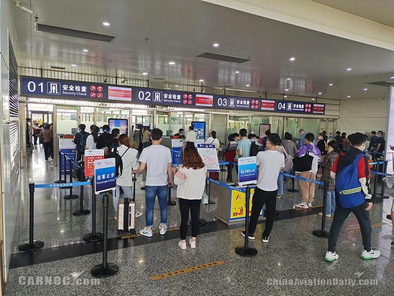 """常德机场""""五一""""假期旅客吞吐量同比增长123.43%"""