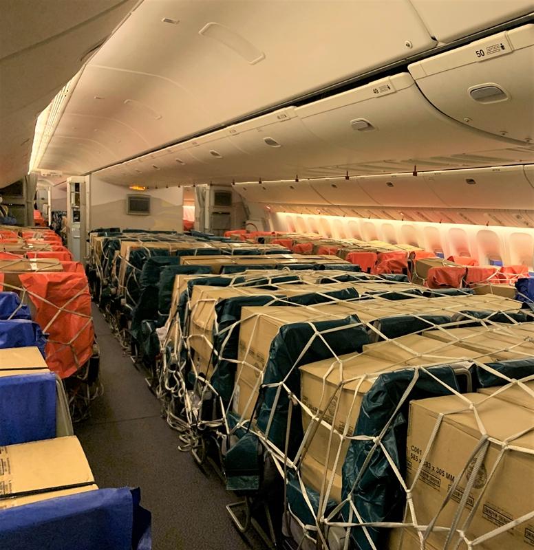 阿联酋航空SkyCargo货运部再创里程碑               阿联酋航空供图
