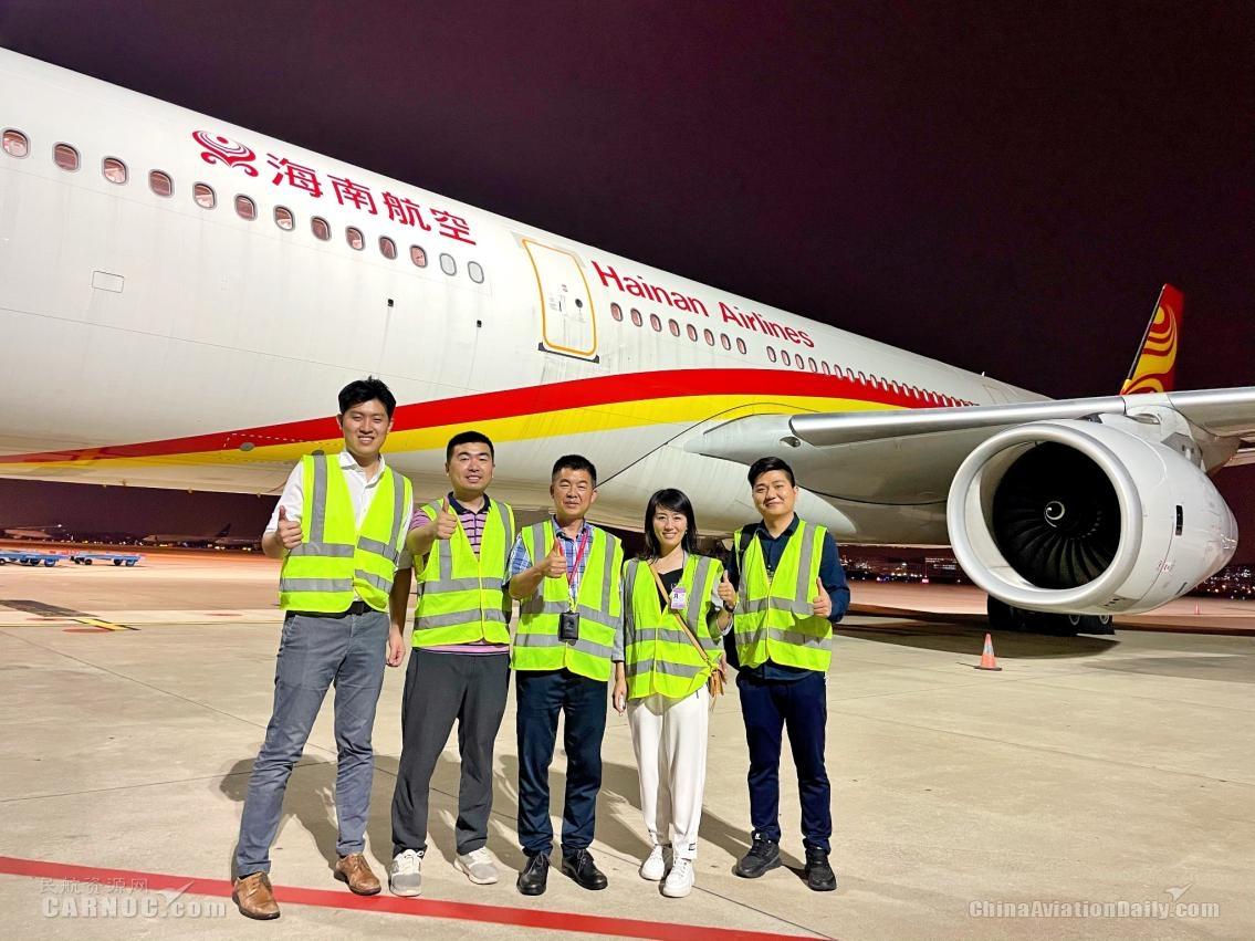 海南航空厦门=温哥华客改货包机航班成功首航