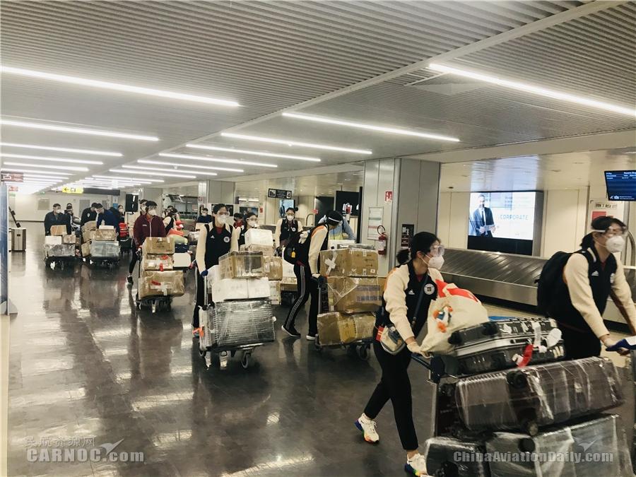 图片 东航助力中国女排出征意大利 全流程精细服
