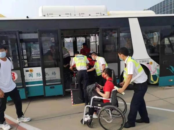山航为省残疾人运动员提供全方位无障碍服务