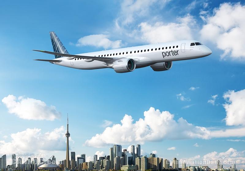 加拿大波特航空购30+50架E195-E2飞机