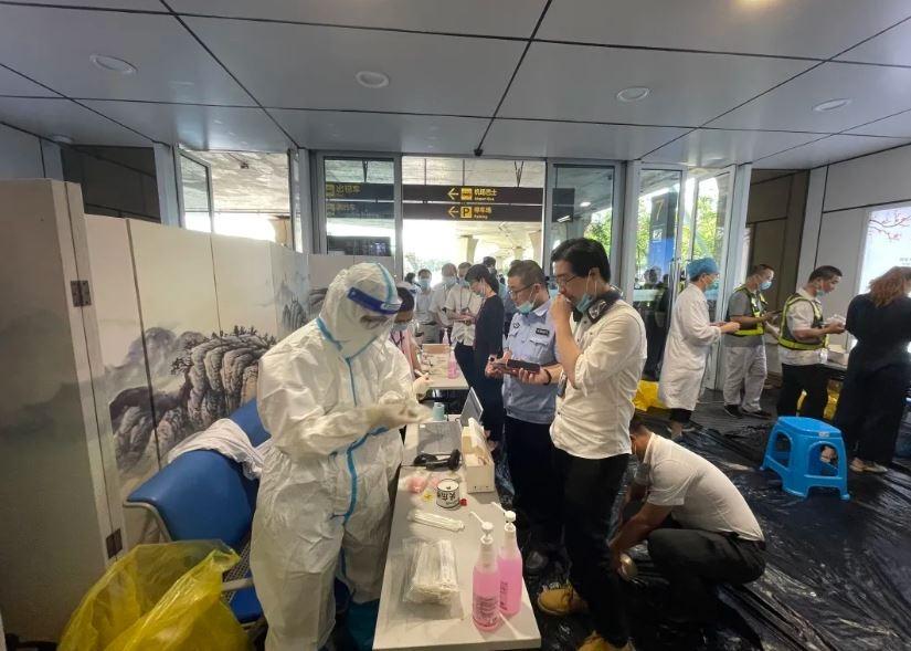 苏南硕放国际机场全员核酸检测