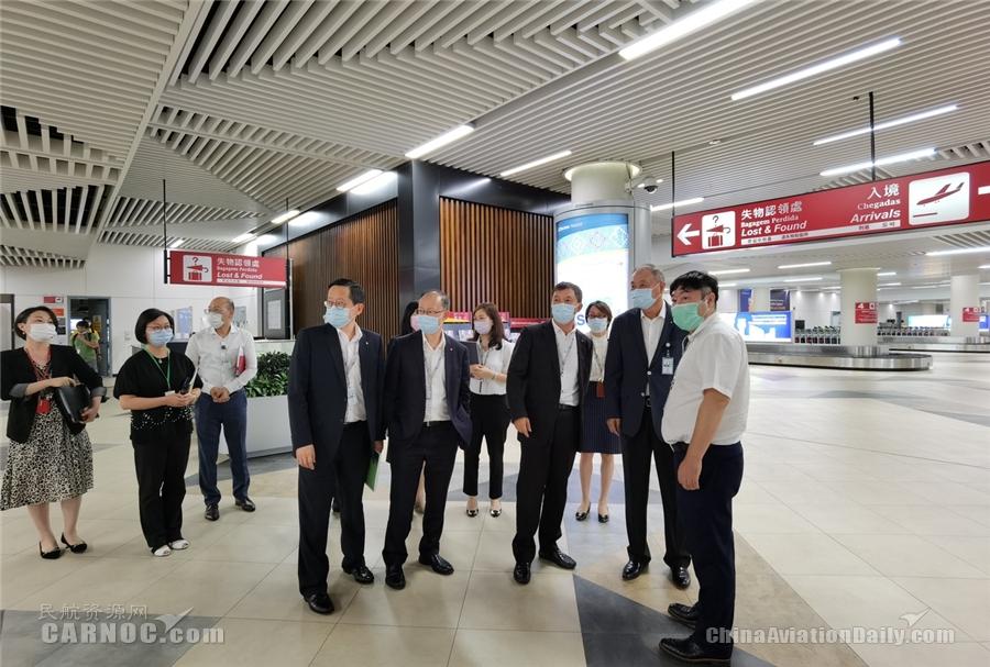 澳门机场执委会全体成员到机场前线进行防疫工作检查