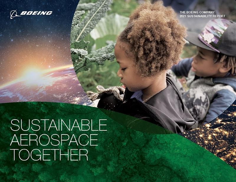 波音发布首份可持续发展报告,描绘可持续航空航天业发展道路