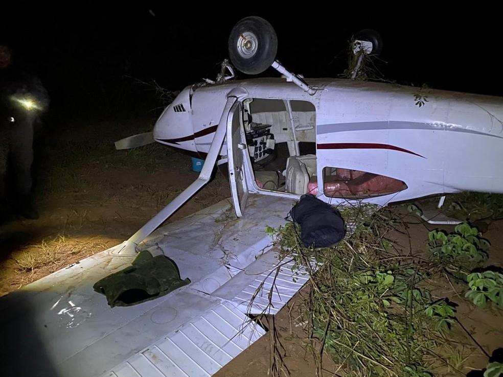 一架载有近300公斤毒品的飞机在巴西坠毁