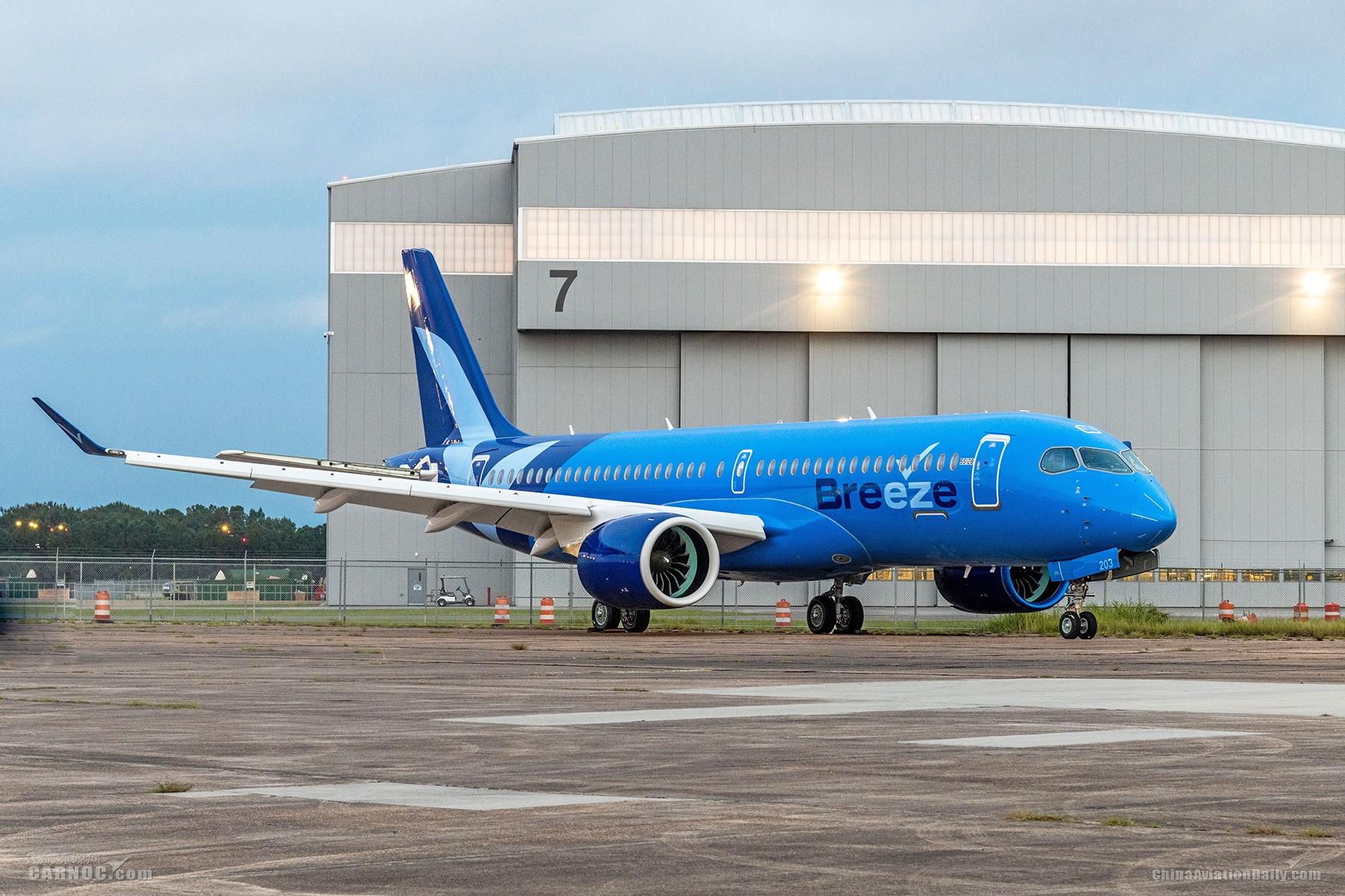 微风航空全新A220涂装亮相 并宣布增购20架空客A220-300飞机