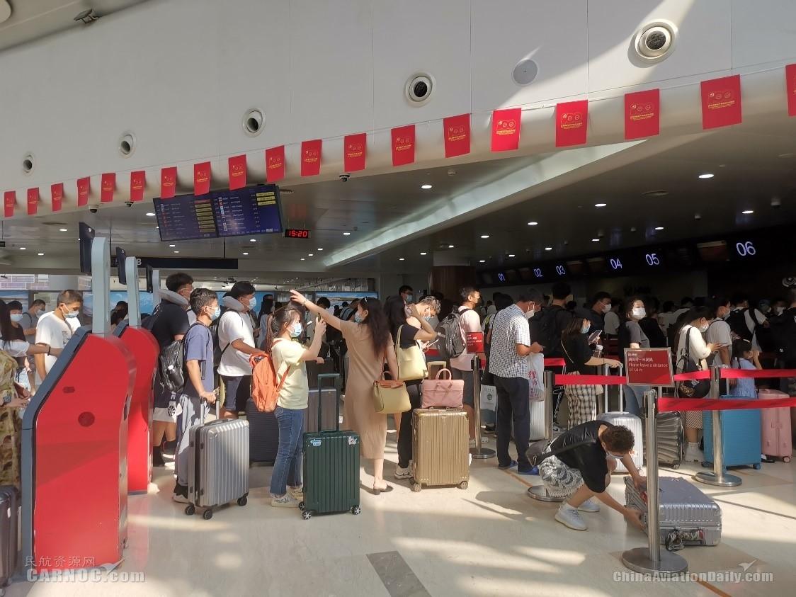 2021年国庆假期海南航空运送旅客60.5万人次