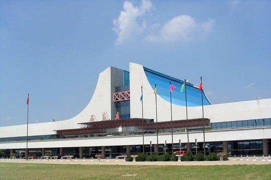 正定机场候机楼平面图
