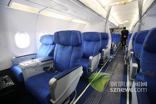 首架最新型空客a321落户深圳 为a320加长型图片