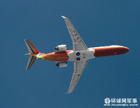 国产ARJ21支线客机在珠海举行首次热身飞行 - 电子四组 - 浦东电子四组