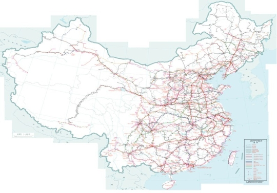 全国铁路东部地图