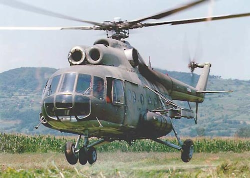 俄罗斯一架米-8直升机坠毁