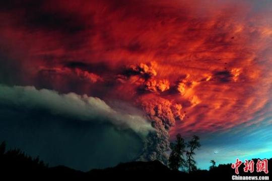智利火山灰已飘至阿根廷 首都航班全部取消