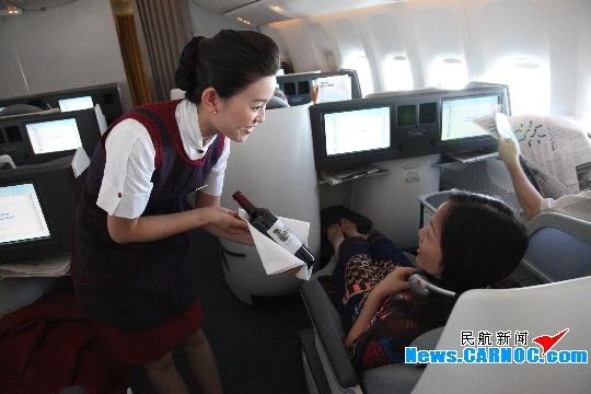国航客舱部首架波音777-300er首航航班纪实