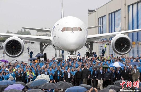 中国多家航企订购波音787飞机 最快2012到货