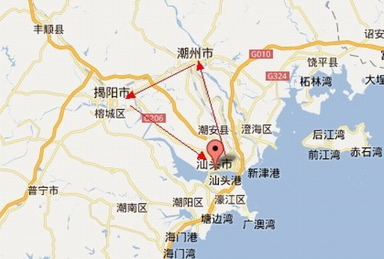 汕头大华路地图